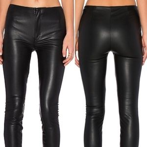MOTHER High Waist Seamless Looker Black Pants